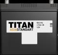 Titan Asia Standart 90А/ч-12V ст EN750 японские прямая - 304x175x221