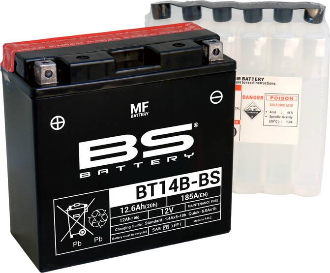 Автомобильный аккумулятор BS Battery BT14B-BS (YT14B-BS) 12А/ч-12V ст EN210 прямая 152x70x148