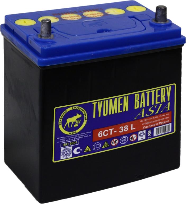 Аккумулятор для легкового автомобиля Tyumen Battery Asia 6СТ-38 Ач Об - фото 3