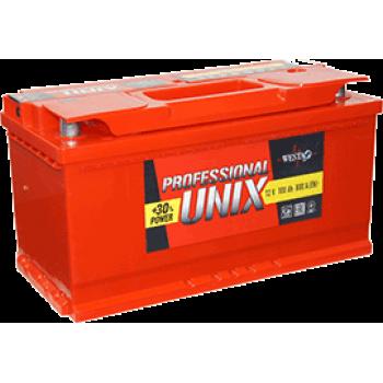 Автомобильный аккумулятор Unix 6ст - 75 Professional new 75А/ч-12Vст EN европейская прямая 276x175x190