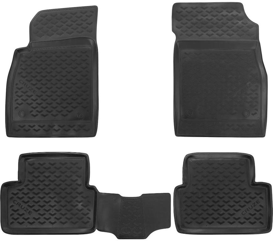 Автомобильный коврик Seintex 71683 3D для Chevrolet Cruze Black - фото 8